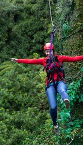Woman-on-zipline-having-fun