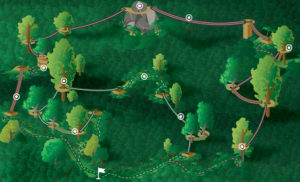 Map-of-zipline-course-with-circles